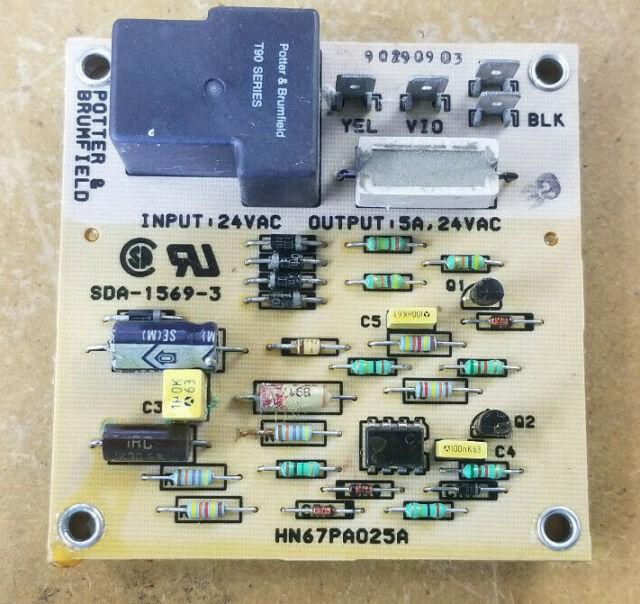 Potter  U0026 Brumfield Hn67pa025a Hvac Control Circuit Board