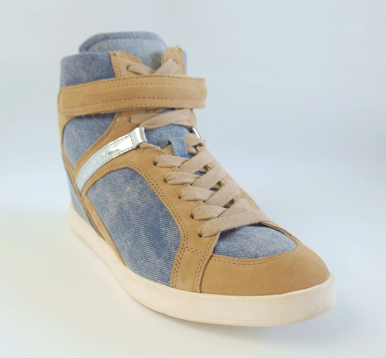 GUESS  bluee Denim Flat Sneaker PERINA 12 Women's shoes