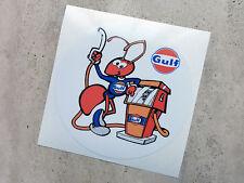 Gulf retro ant fuel pump sticker 95 mm  - Gulf Licensed Merchandise