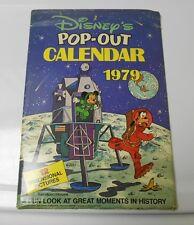 1979 DISNEY Pop-Up Calendar Mickey Mouse Goofy UNUSED FVF in Original Sleeve