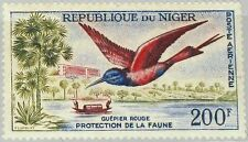 NIGER 1961 20 C15 Nubian Carmine Bee Eater Bird Vogel Fauna Tierschutz MNH