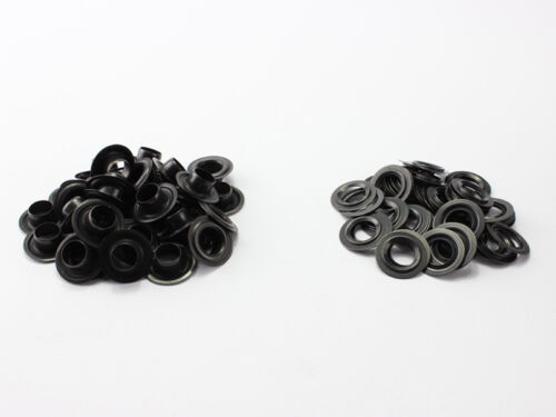 50 X Oeillets Oeillets Ronds Laiton Bruni Rostfrei10mm Din 7332 Noir