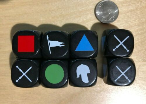 Dice Set for GMT Commands /& Colors Medieval or Ancients