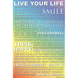 Live Your Life POSTER 61x91cm NEW inspirational motivation positive daily quotes 9316414093837