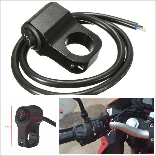 Other Electrical & Ignition 12V 10A 7/8 Motorcycle Handlebar Grip Light Switch On/Off Aluminum-Alloy~Black Electrical & Ignition Parts