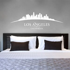 Los-Angeles-California-USA-City-Skyline-Chambre-Salon-Mur-Art-Autocollant