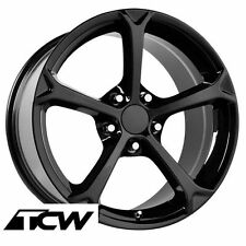 18 / 19 inch Corvette C6 Grand Sport Gloss Black OE Replica Wheels Rims C4 88-96
