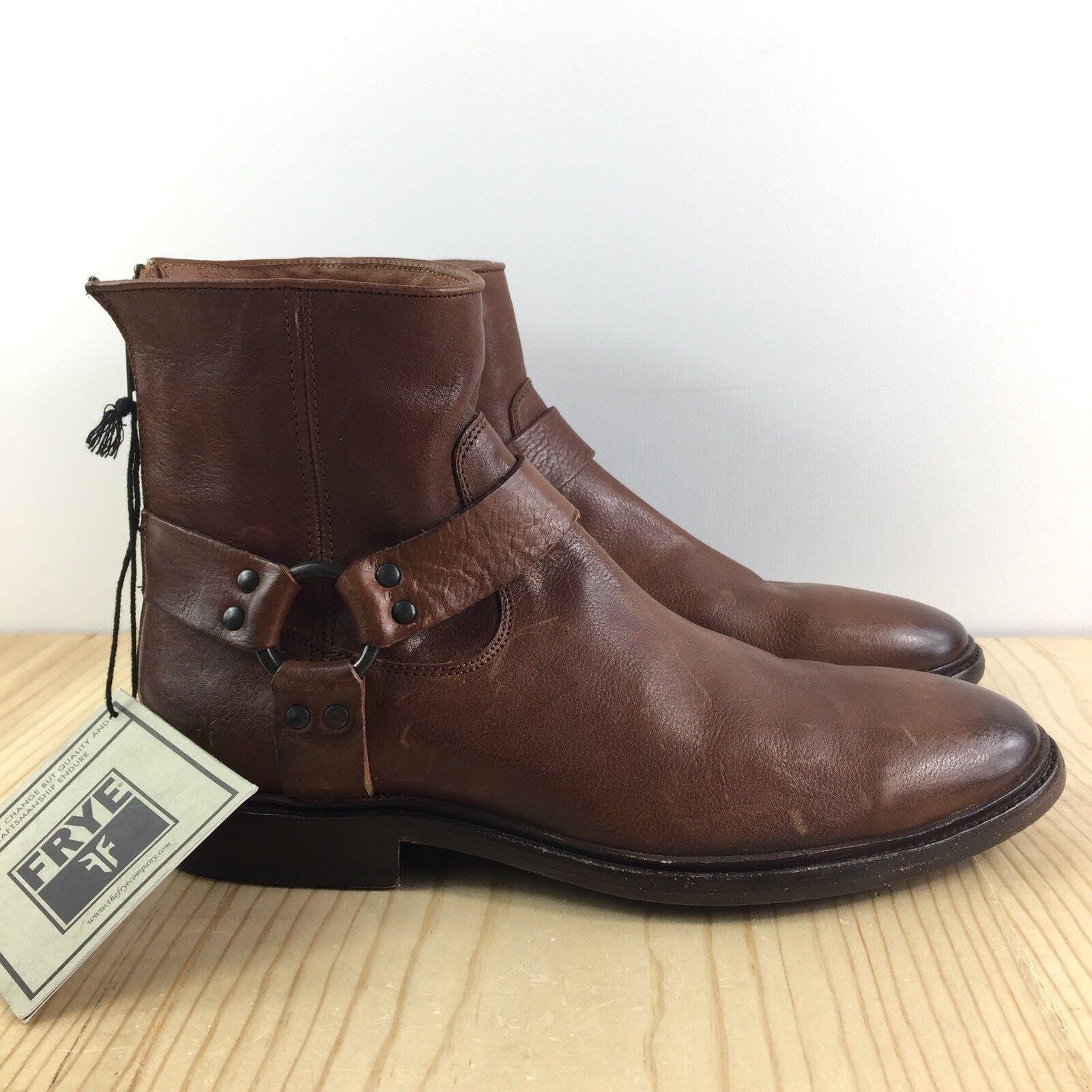 Frye Phillip Lug Harness Stivali Size 9 D Uomo Shoes