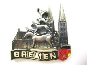 Bremen Town Musicians Magnetic Metal, Souvenir Germany, Germany,( Si)