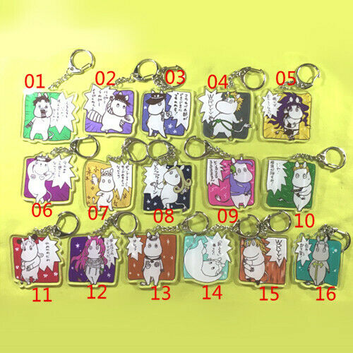 Jojo/'s Bizarre Adventure Moomin Lines Giovanna Mista Acrylic Keychain Keyring N