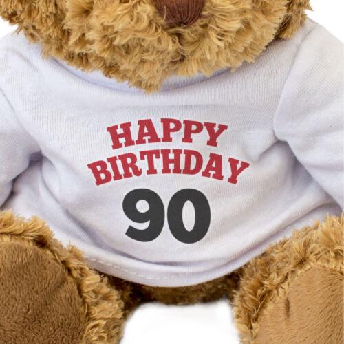 Gift Present 90th Birthday HAPPY BIRTHDAY 90 Teddy Bear Cute Cuddly NEW