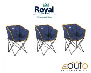 la pêche Travel chair 3 x royal fauteuil crapaud BLEU//ORANGE ADULTE//camping