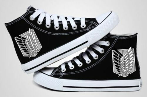 Attack on Titan Cosplay Casual Sneakers Canvas Shoes Unisex