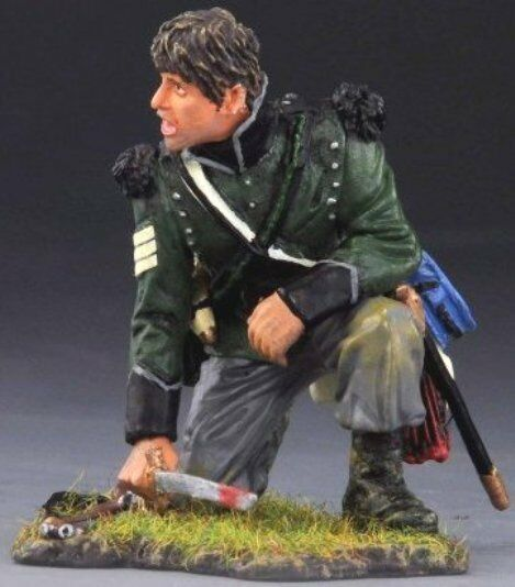 THOMAS GUNN NAPOLEONIC BRITISH NAP014B 95TH RIFLES SERGEANT SHOUTING NO HAT MIB