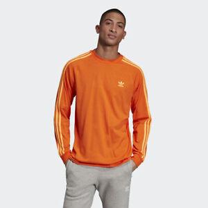 Adidas ED7071 Men originals tee 3 Stripes long sleeve shirts ...