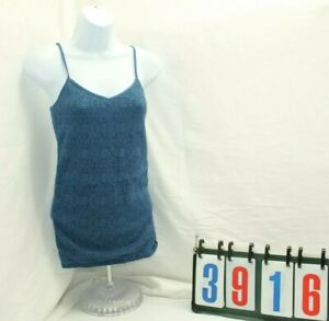 Aeropostale-Blue-Lace-Stretch-Cami-Shirt-Tank-Top-Blouse-Womens-Size-Medium