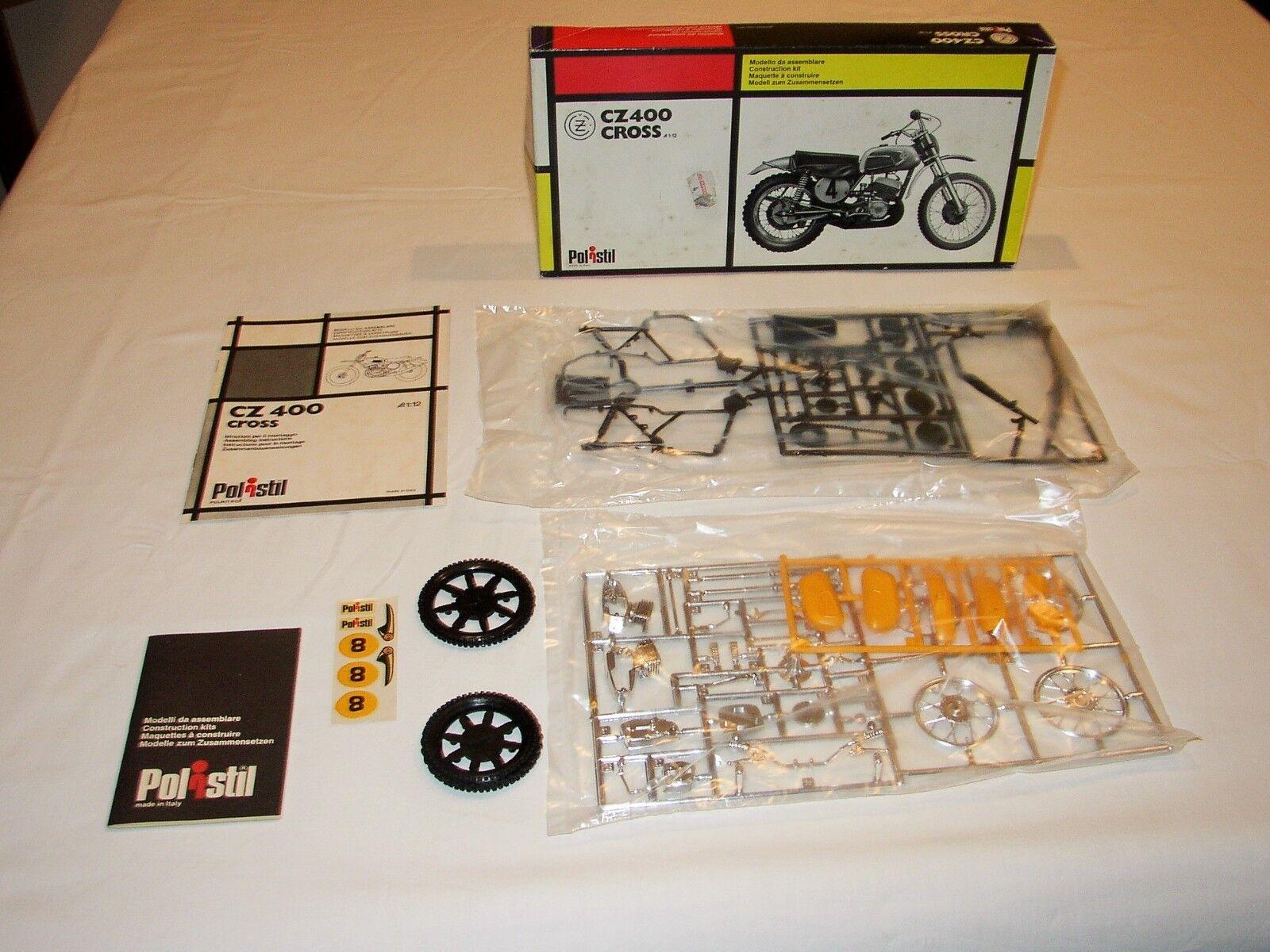 MOTO CZ 400 CROSS - POLISTIL  - 1974 - SCALA 1 12 - KIT - MINT BOX - MOLTO RARO