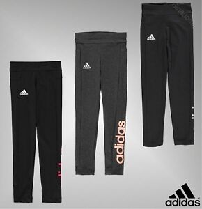 Girls-Adidas-Stretch-Full-Leg-Essentials-Linear-Leggings-Sizes-Age-7-13-Yrs