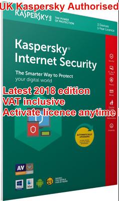 Kaspersky Internet Security 2018 3 Multidevice 1year Sealed Vat Inc Uk 5060037893605 Ebay
