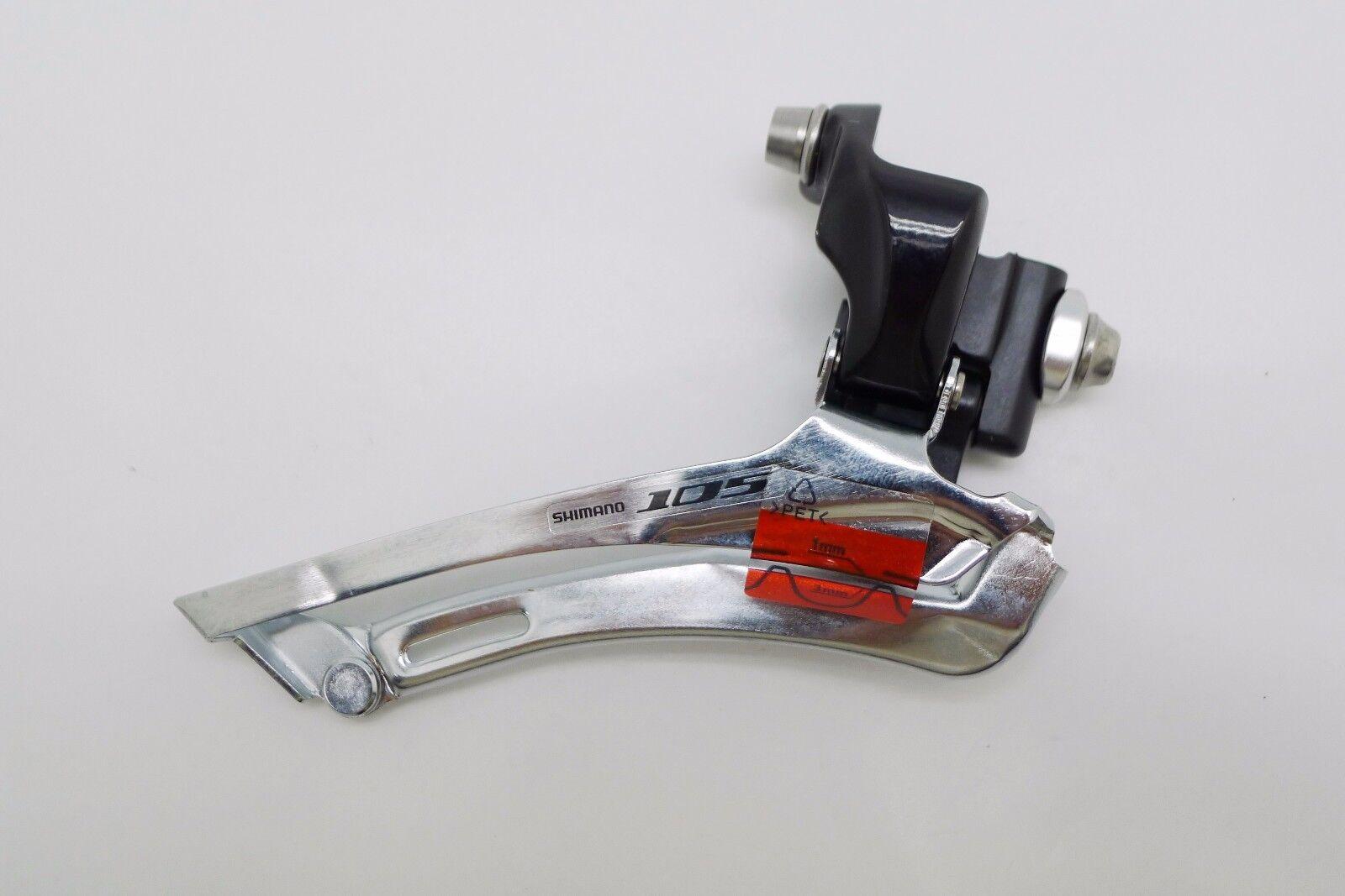 Black Shimano 105 FD-5700 2x10 Speed Braze-On Front Derailleur