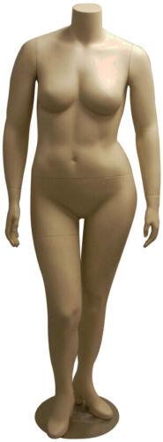 Plus Size Headless Adult Female Fleshtone Mannequin with Base