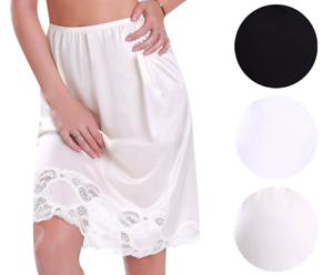 New-Women-039-s-Premium-Illusion-Classic-Half-Slip-Skirt-With-Lace-Trim-1017-1817