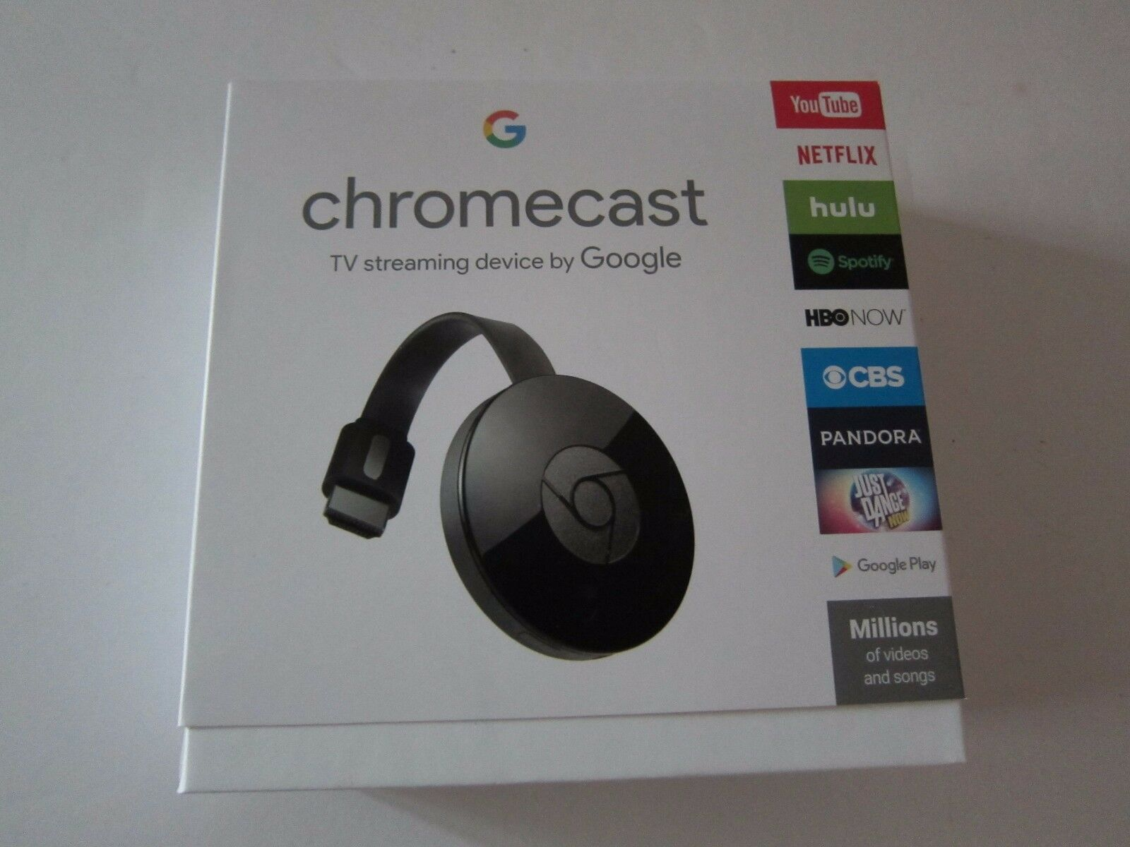 s-l1600 Google Chromecast Streaming Media Player 2nd Gen Latest Version Black New