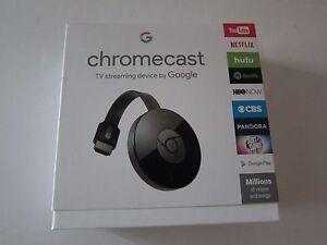 Google Chromecast 2 HDMI Streaming Media Player NC2-6A5 Black Latest Model