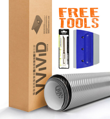 Vvivid Xpo Carbon fiber vinyl car wrap film with tools