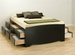 bed frames for queen size beds with storage tall platform captain storage drawer ebay. Black Bedroom Furniture Sets. Home Design Ideas