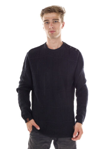 Cotton O`neill Elastico Pattern Up Black Sweater Knit Sweater Fancy 7CPCfqw