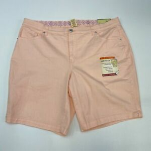 NWT Faded Glory Bermuda Shorts Women's Plus Size 20W Peach Stretch Waistband
