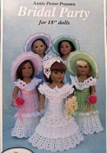 "Crochet  Ripple Crochet For 18/"" Dolls   Pattern Leaflet  Annie Potter Original"