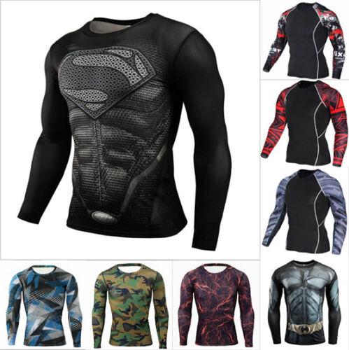 Men Elastic Running Gym Sports Skinny Athletic Apparel Yoga T-shirt H49