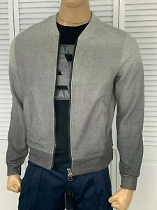 ARMANI-EXCHANGE-Authentic-Degrade-Full-Zip-Logo-Sweatshirt-Jacket-Gray-NWT