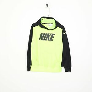 Kid's NIKE Big Logo Sweatshirt Hoodie Green   Medium M   Grade B
