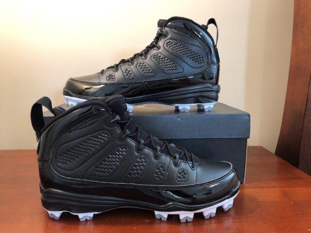 7f045d076 Air Jordan 9 IX MCS Cleats Black White Re2pect Baseball Sz 10.5 AA1264-011  Jeter