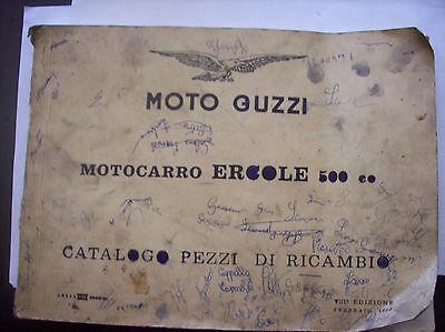 MOTO GUZZI CATALOGO RICAMBI  ERCOLE 500  ANNO 1960