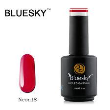 N18 Bluesky Soak Off UV LED Gel Nail Polish NEON Dark Berry Red