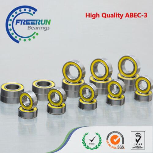 Traxxas 1//16 E-Revo VXL Yellow Rubber Bearing Set ABEC-3 1//16 Slash VXL 22pcs