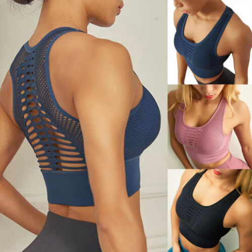 Damen Sport BH Bra Unterwäsche Weste Sport Fitness Yoga Bustier Frauen Top FL