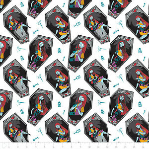 Disney-The-Nightmare-Before-Christmas-Sally-White-100-cotton-fabric-by-the-yard