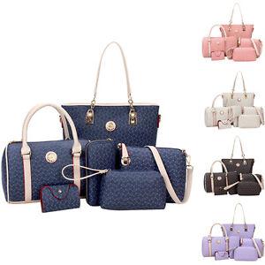 6-Set-Moderno-Mujer-Bolso-de-hombro-mujer-bolsa-cartera-monedero-bolso