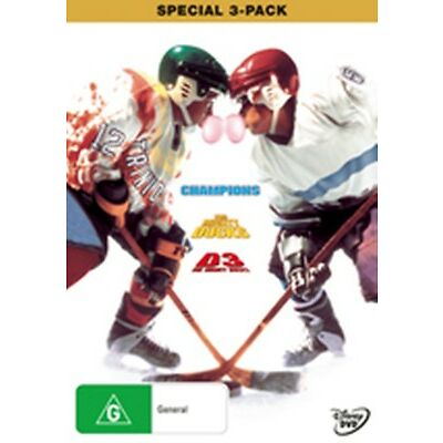 The Mighty Ducks 1 + 2 + 3 Trilogy New DVD R4