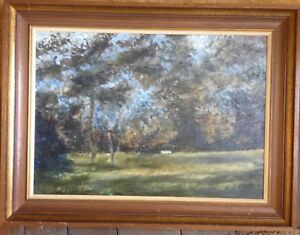 Karl-Oil-Painting-Antique-Signed-Illegible-Worpswede-Wild-Landscape