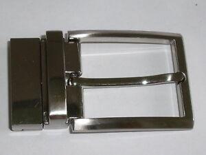 98fc0ef5d1c515 Das Bild wird geladen Guertelschnalle-Klemmschnalle-fuer-Wechselguertel-3-5- cm-silber-