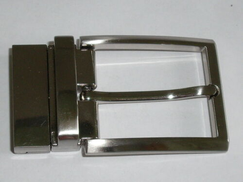 Fibbia Cintura fibbia di bloccaggio per cambio cintura 3,5 cm argento NUOVO ROSTFREI 0194.1