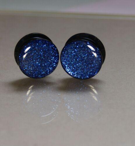 25mm PAIR of Acrylic Glitter Screw Ear Plug//Tunnels 6mm