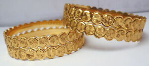Indian-22K-Gold-Plated-4-Pcs-Bangle-Bracelet-Churi-Fashion-Size-24-039-039-28-039-039