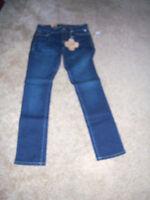 Trendy Sharp Grane Brand Macy's Distress Wash Skinny Jeans Size Jrs 9